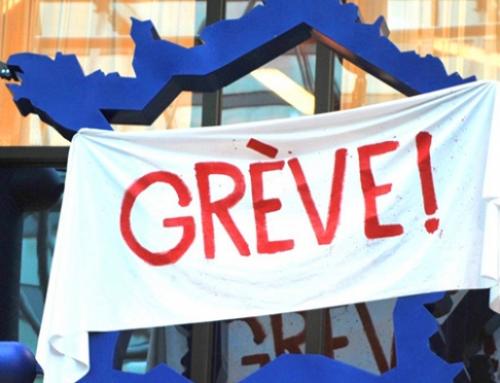 La grève générale pour le retrait de la loi anti-retraites en discussion dans toute la France.