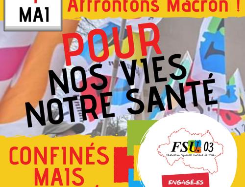 1° mai : CGT/FO/FSU/Solidaires ALLIER.