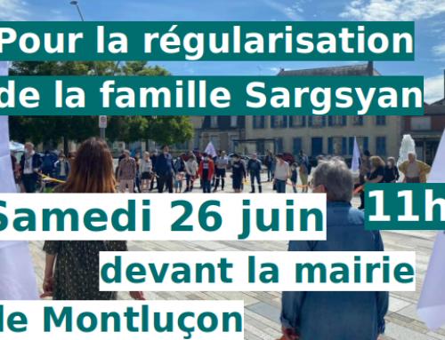 Samedi 26 11h Montluçon : c'est important !
